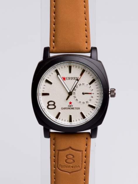 DLA NIEGO... Elegancki sportowy zegarek męski na miękkim skórzanym pasku                                  zdj.                                  1