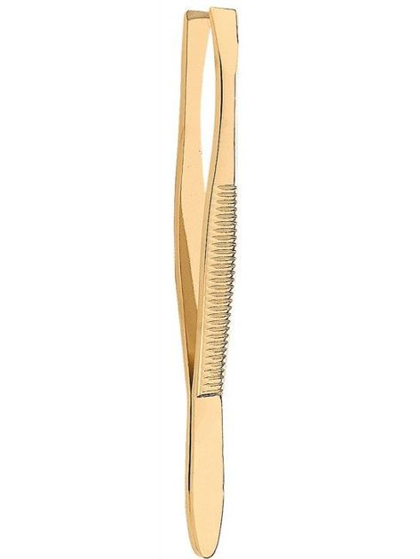 DONEGAL Prosta pęseta do brwi złota (1090)