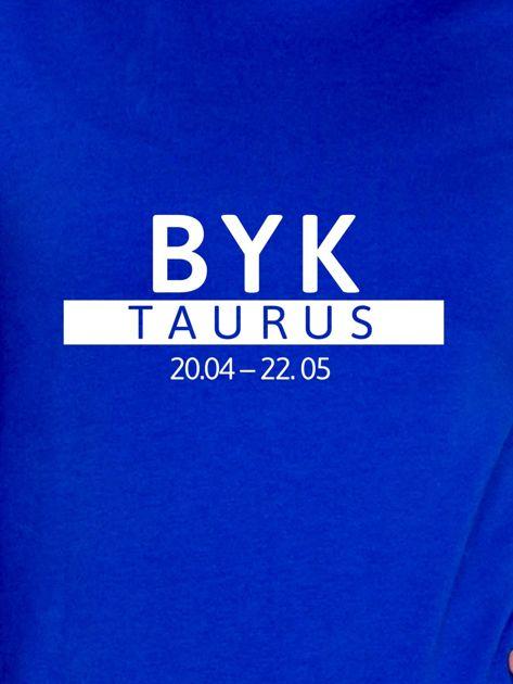 Damska bluza ze znakiem zodiaku BYK kobaltowa                              zdj.                              2