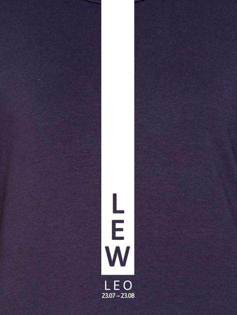 Damska bluza ze znakiem zodiaku LEW grafitowa                                  zdj.                                  2