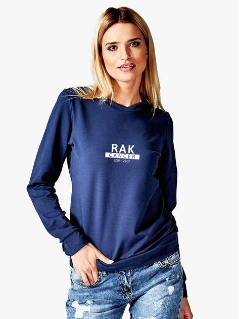 Damska bluza ze znakiem zodiaku RAK granatowa                              zdj.                              1