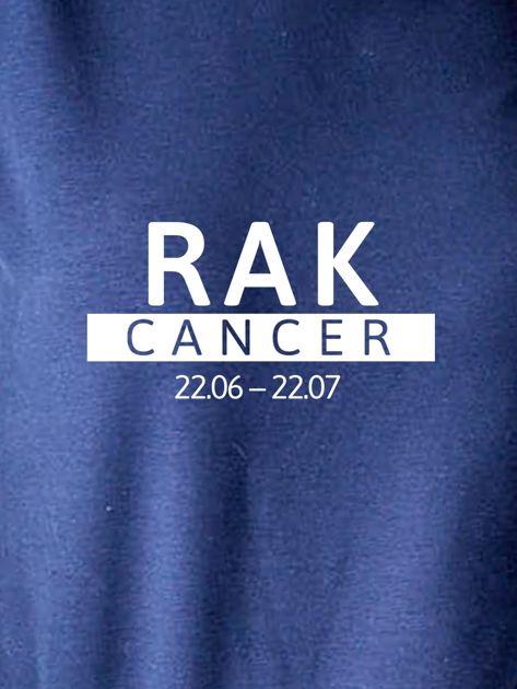 Damska bluza ze znakiem zodiaku RAK granatowa                              zdj.                              2