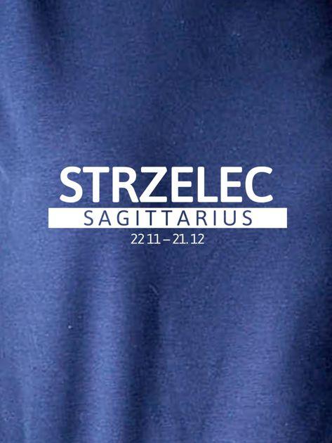 Damska bluza ze znakiem zodiaku STRZELEC granatowa                              zdj.                              2