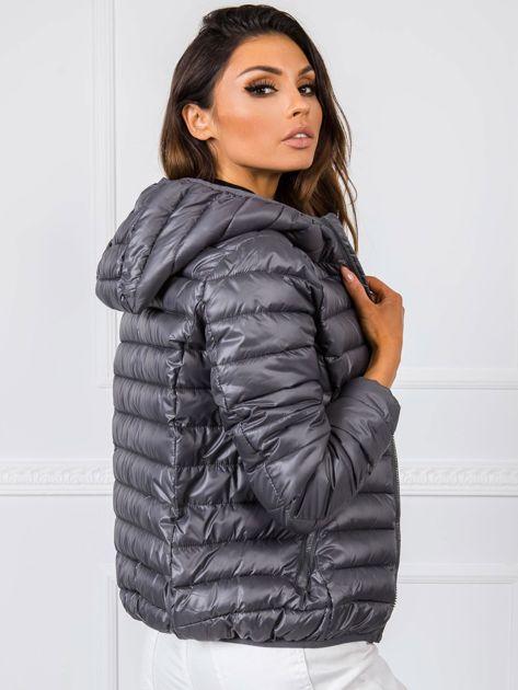 Damska kurtka pikowana ciemnoszara