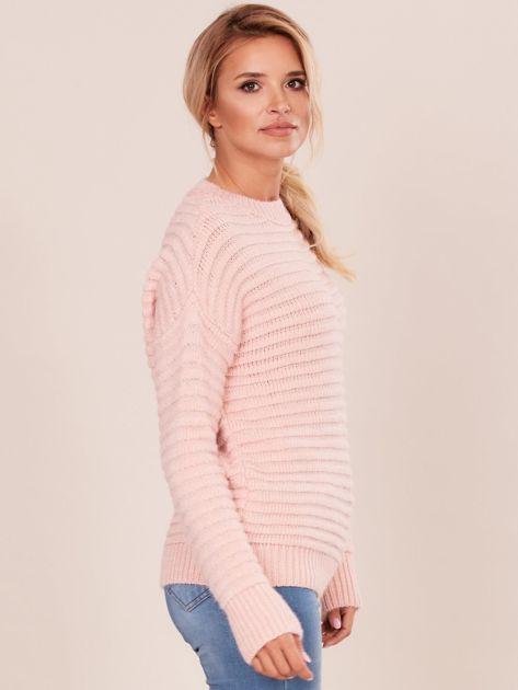 Damski jasnoróżowy sweter damski                              zdj.                              3