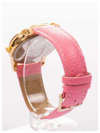 Damski zegarek z cyrkoniami i zdobieniami na perłowej tarczy                                  zdj.                                  4