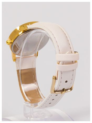 Damski zegarek z cyrkoniami na tarczy. Bardzo zgrabny. Delikatny i kobiecy.                                  zdj.                                  4