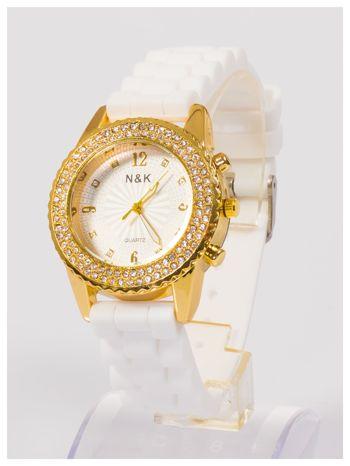 Damski zegarek z cyrkoniami na wygodnym silikonowym pasku                                  zdj.                                  3