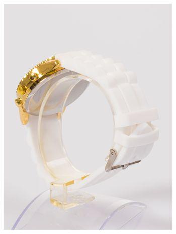 Damski zegarek z cyrkoniami na wygodnym silikonowym pasku                                  zdj.                                  4