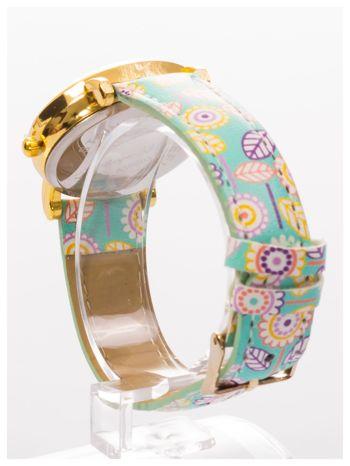 Damski zegarek z motywem kwiatowym na pasku                                  zdj.                                  4