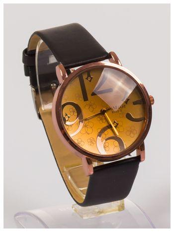 Damski zegarek z ozdobnym dyskretnym motywem kwiatowym na tarczy                                  zdj.                                  2