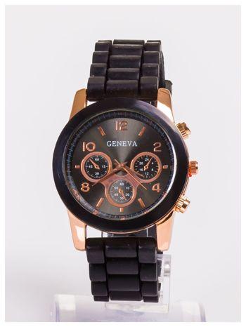 Damski zegarek z ozdobnym tachometrem, na wygodnym pasku                                  zdj.                                  1