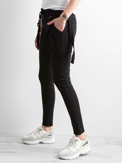 Damskie spodnie jeansowe czarne                              zdj.                              3