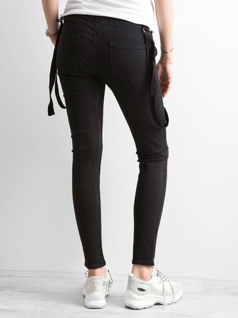 Damskie spodnie jeansowe czarne                              zdj.                              2