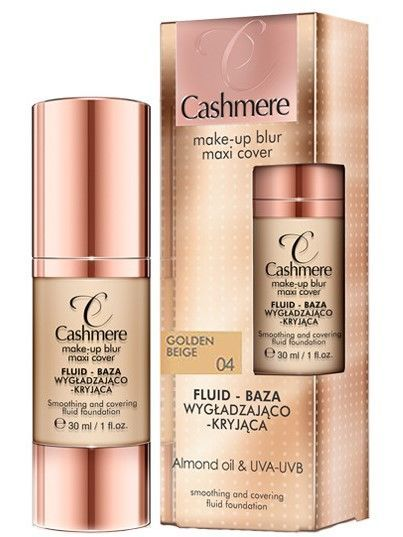 Dax Cashmere MAKE-UP BLUR MAXI COVER Fluid - baza wygładzająco-kryjąca nr 04 Golden Beige 30 ml