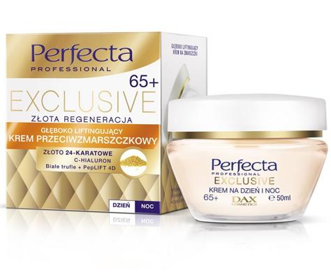 Dax Perfecta Exclusive 65+ Krem przeciwzmarszczkowy głęboko liftingujący na dzień i noc 50 ml