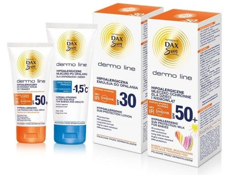Dax Sun Dermo Line Mleczko po opalaniu chłodzące dla dorosłych i dzieci hipoalergiczne 200 ml                              zdj.                              2