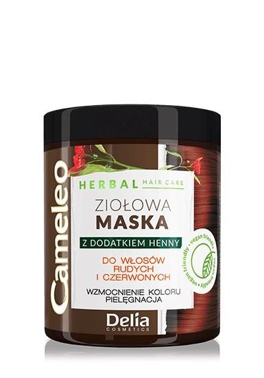 """Delia Cosmetics Cameleo Herbal Maska Ziołowa do włosów rudych i czerwonych 250ml"""""""