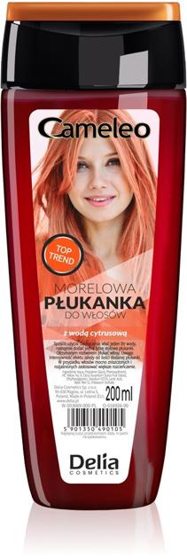 """Delia Cosmetics Cameleo Płukanka do włosów morelowa z wodą cytrusową  200ml"""""""