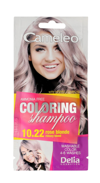 """Delia Cosmetics Cameleo Szampon koloryzujący nr 10.22 Różany Blond  1szt"""""""