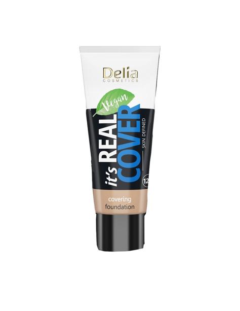 """Delia Cosmetics It's Real Cover Podkład kryjący rewitalizująco-nawilżający nr 206 Honey  30ml"""""""