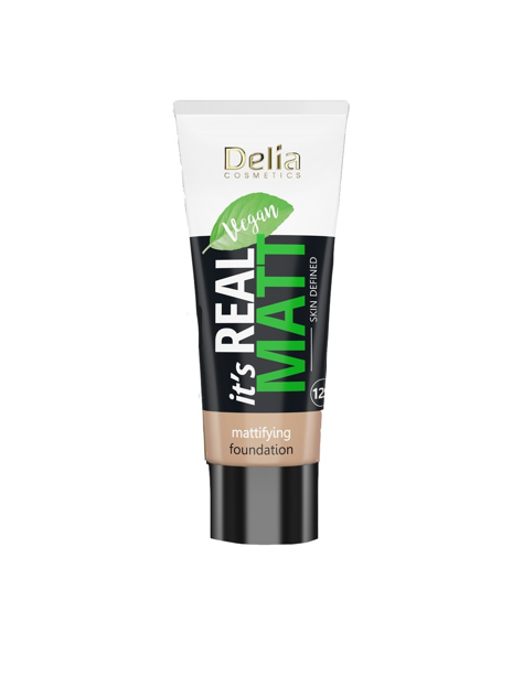 """Delia Cosmetics It's Real Matt Podkład matujący odżywczo-nawilżający nr 105 Honey 30ml"""""""