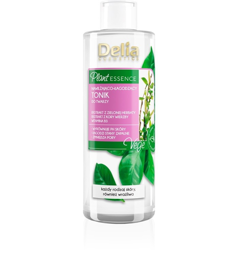 """Delia Cosmetics Plant Essence Tonik do twarzy nawilżająco-łagodzący  200ml"""""""