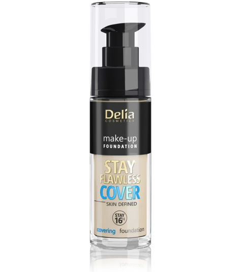 """Delia Cosmetics Stay Flawless Cover Podkład kryjący 16H nr 504 Sand 30ml"""""""