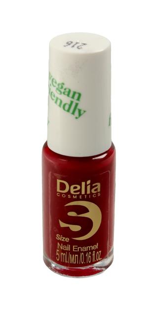 "Delia Cosmetics Vegan Friendly Emalia do paznokci Size S nr 216 Cherry Bomb  5ml"""