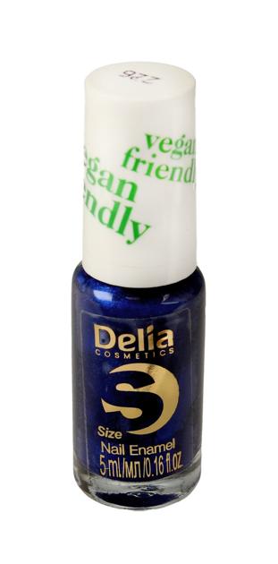 "Delia Cosmetics Vegan Friendly Emalia do paznokci Size S nr 226 Monaco Blue  5ml"""