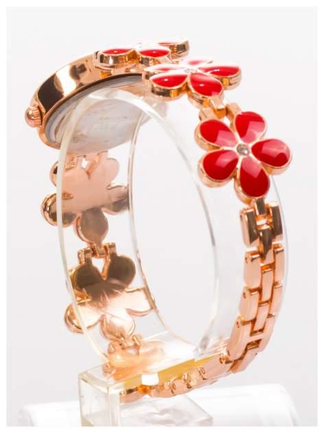 Delikatny śliczny damski zegarek z bransoletką w kształcie kwiatów                                  zdj.                                  4