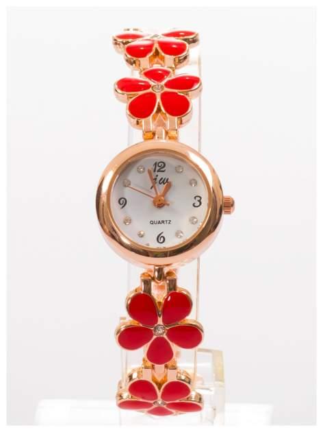 Delikatny śliczny damski zegarek z bransoletką w kształcie kwiatów                                  zdj.                                  1