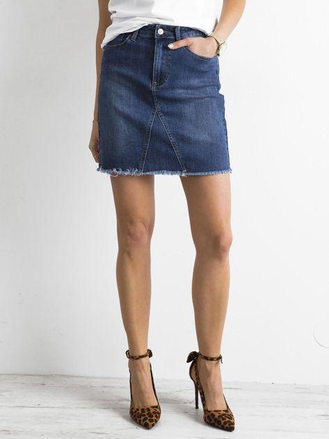 Denimowa spódnica niebieska                              zdj.                              5