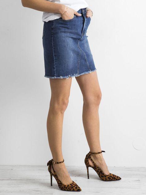 Denimowa spódnica niebieska                              zdj.                              3