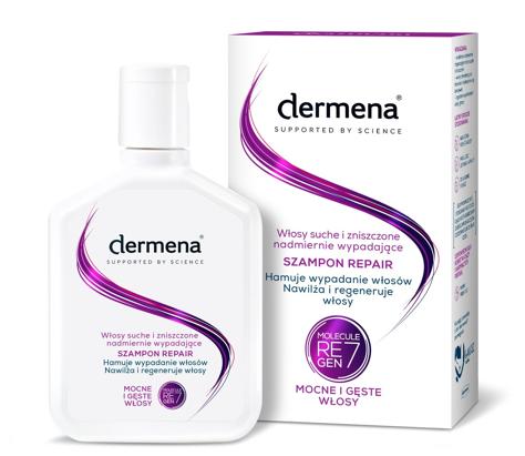 """Dermena Supported By Science Szampon Repair do włosów suchych,zniszczonych i wypadających 200m"""""""