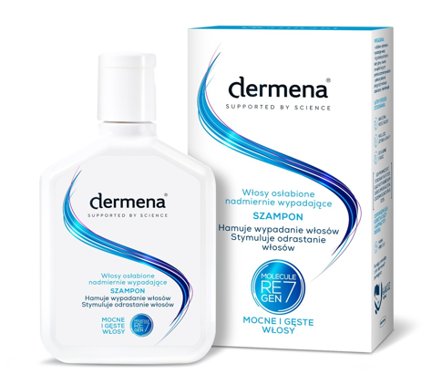 """Dermena Supported By Science Szampon hamujący wypadanie włosów  200ml"""""""