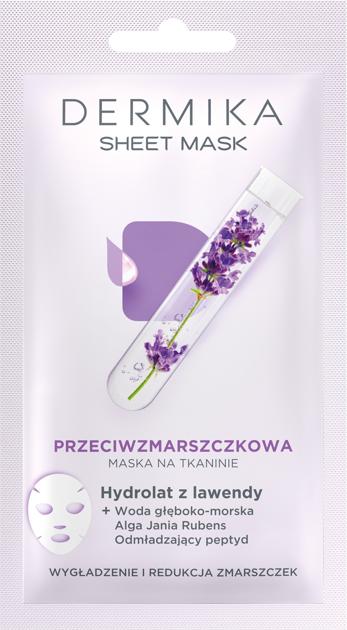 """Dermika Sheet Mask maska na tkaninie przeciwzmarszczkowa  17g"""""""