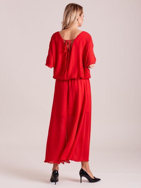 Długa zwiewna sukienka czerwona                              zdj.                              2