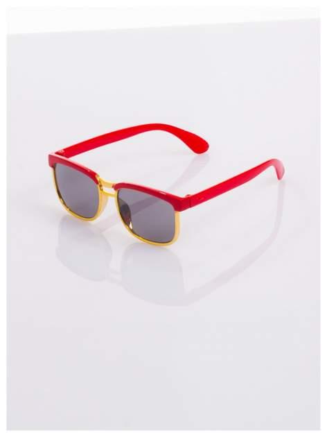 Dziecięce czerwono-złote okulary przeciwsłoneczne z filtrami                                  zdj.                                  1