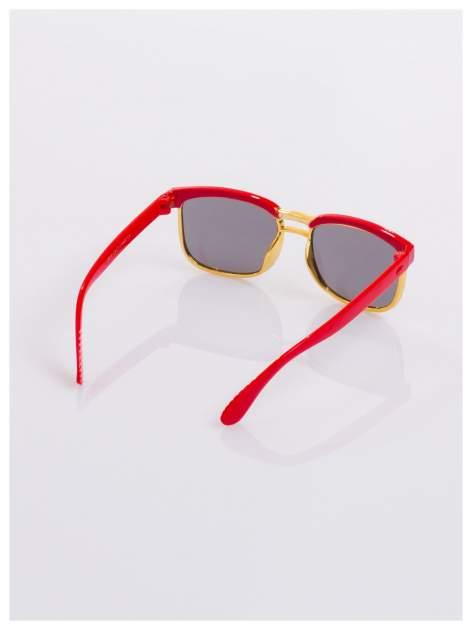 Dziecięce czerwono-złote okulary przeciwsłoneczne z filtrami                                  zdj.                                  3