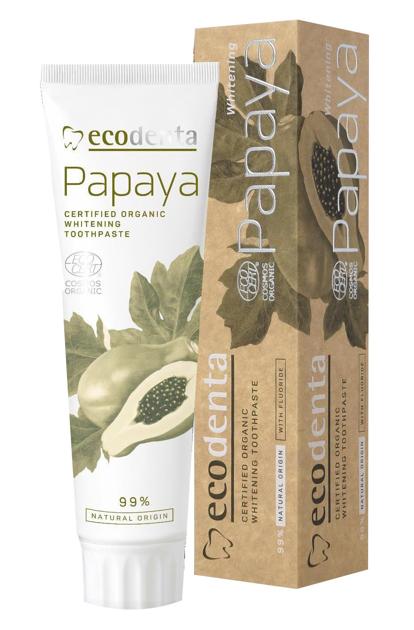 ECODENTA Organic Pasta do zębów Papaya wybielająca 100ml