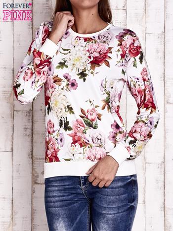 Ecru bluza z kwiatowym motywem