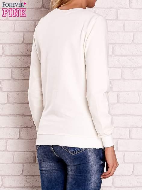 Ecru bluza z motywem paryskim                                  zdj.                                  4