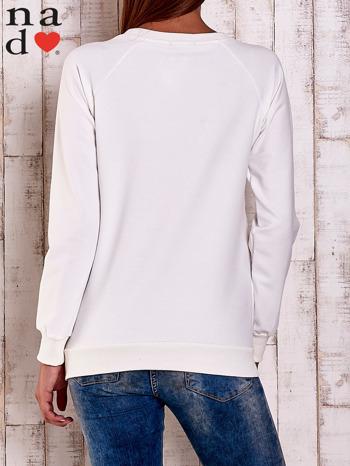 Ecru bluza z motywem serduszek                                  zdj.                                  4