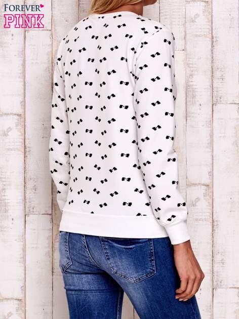 Ecru bluza z nadrukiem kokardek                                  zdj.                                  5