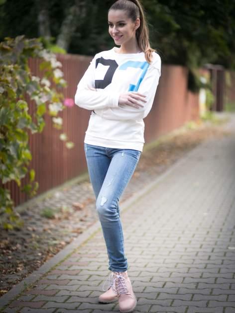 Ecru bluza z nadrukiem numerycznym 23                                  zdj.                                  10