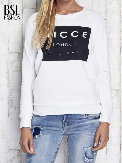 Ecru bluza z napisem NICCE LONDON