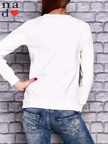 Ecru bluza z napisem PONIEDZIAŁEK POWINIEN BYĆ TYLKO DLA CHĘTNYCH                                  zdj.                                  4
