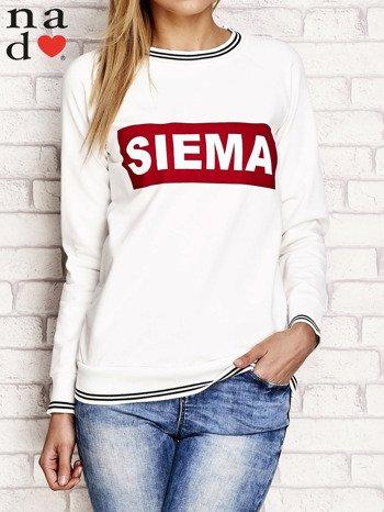 Ecru bluza z napisem SIEMA                                  zdj.                                  1