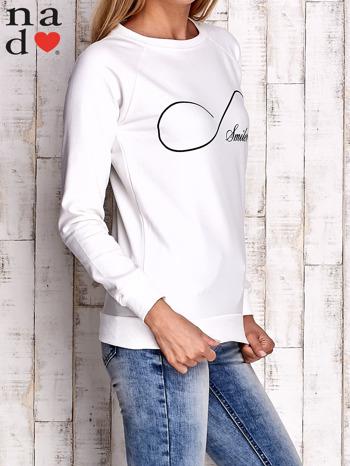 Ecru bluza z napisem SMILER                                  zdj.                                  3